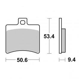 Pasticche freno posteriori SBS 656152HM