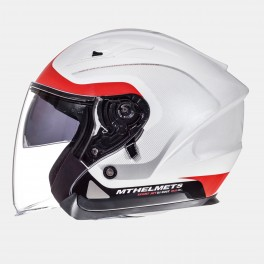 Casco MT Helmets Avenue SV Crossroad Gloss Pearl White/Red Tg XL